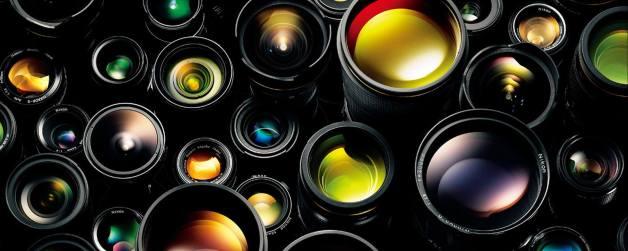 Photo showing dozens of NIKKOR lenses