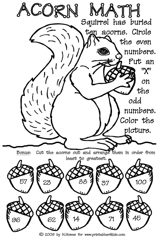 Free Worksheet Fall Worksheets For Preschool fall coloring worksheets free printable addition worksheet also math worksheets