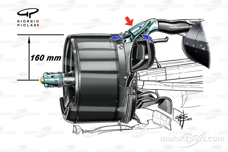 Mercedes AMG F1 W10, rear duct