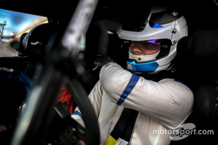 Valtteri Bottas testing a Citroen DS3 WRC