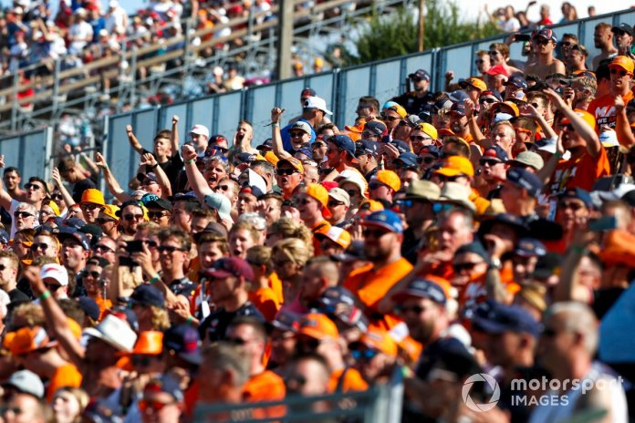 Dutch fans fill the grandstands in support of Max Verstappen, Red Bull Racing