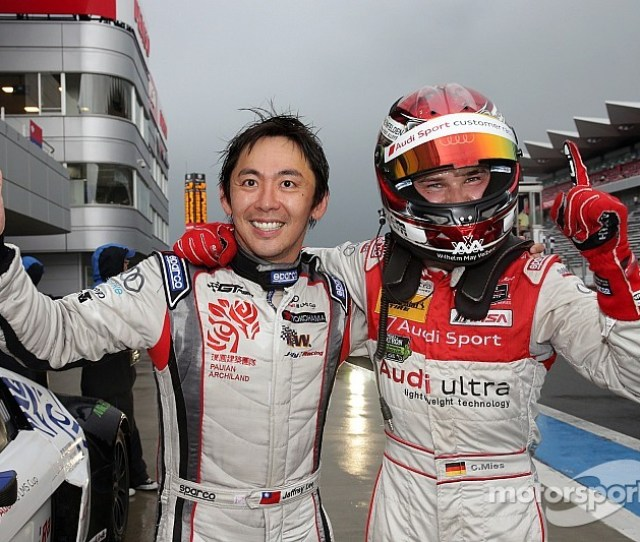 Lee And Mies Take Audi To Victory In The Rain At Fuji