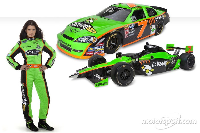 Go Daddy girl Danica with the new No. 7 GoDaddy.com Chevrolet at Go Daddy Danica Patrick ...