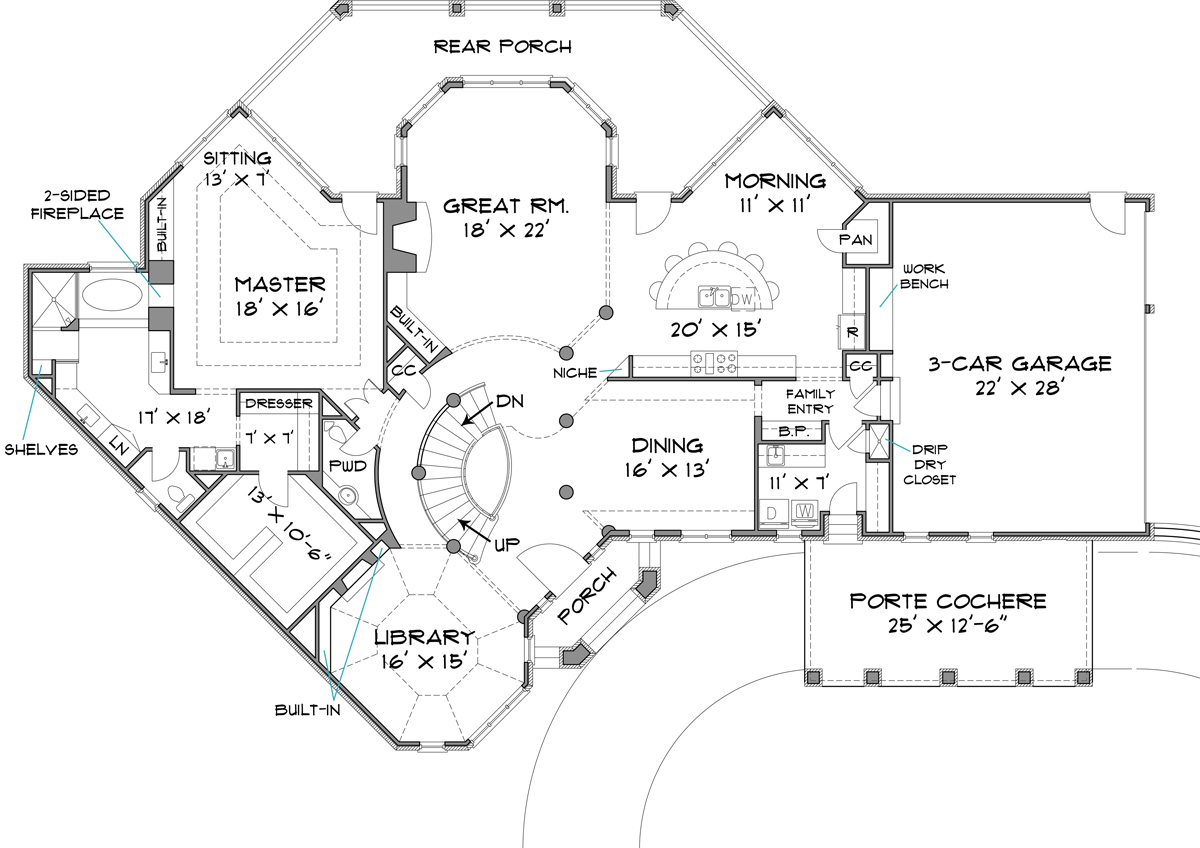 Colonial House Plan With 4 Bedrooms And 3 5 Baths