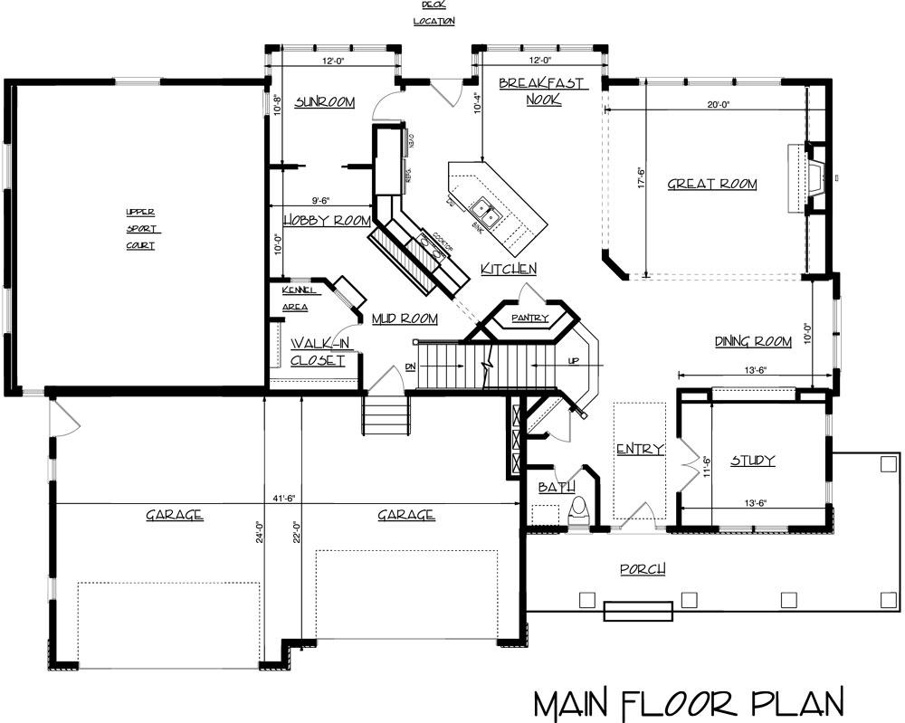 Home Floor Plans With Indoor Basketball Court