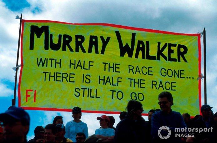 Pankartat e Murray Walker ishin të shumta