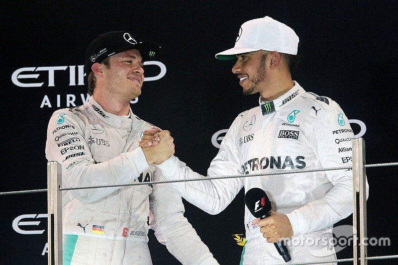 Hamilton a Rosberg: