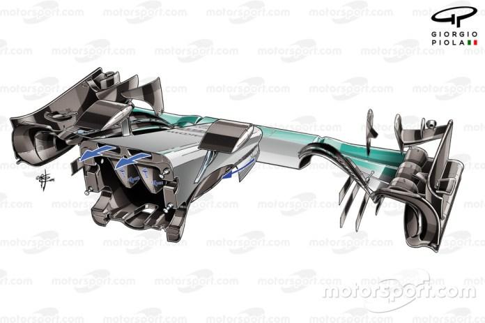 Mercedes F1 W08, nose back