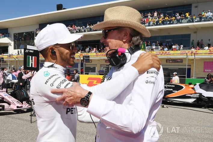 Lewis Hamilton, Mercedes AMG F1 and Mansour Ojjeh, TAG