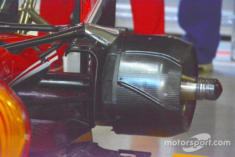 Sebastian Vettel, Ferrari SF16-H, cestello freno posteriore