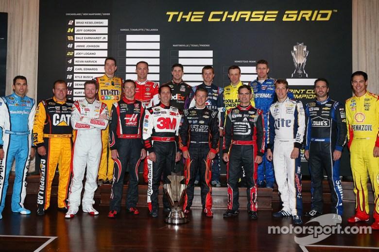 Chase drivers Jimmie Johnson, Jeff Gordon, Denny Hamlin, Kyle Busch, Carl Edwards, Ryan Newman ...