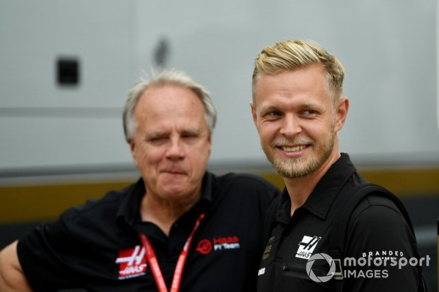Kevin Magnussen, Haas F1 Team and Gene Haas, Owner and Founder, Haas F1 Team