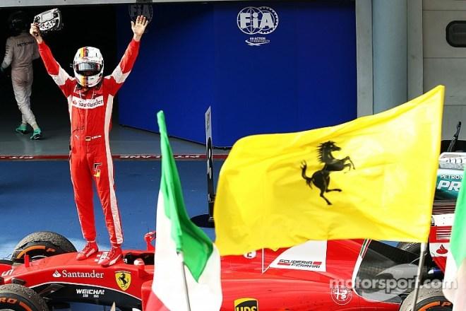 Себастьян Феттель после победы в Гран При Малайзии-2015. Фото: motorsport.com