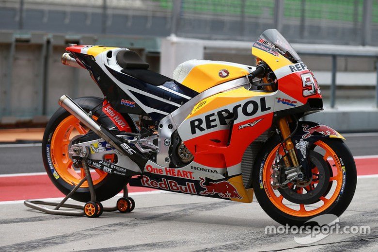 Bike of Marc Marquez, Repsol Honda Team at Sepang January testing