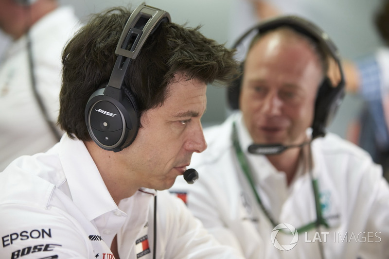 Toto Wolff, Mercedes AMG F1 Director of Motorsport  Mercedes losing five tenths to Ferrari on the straights f1 german gp 2018 toto wolff mercedes amg f1 director of motorsport