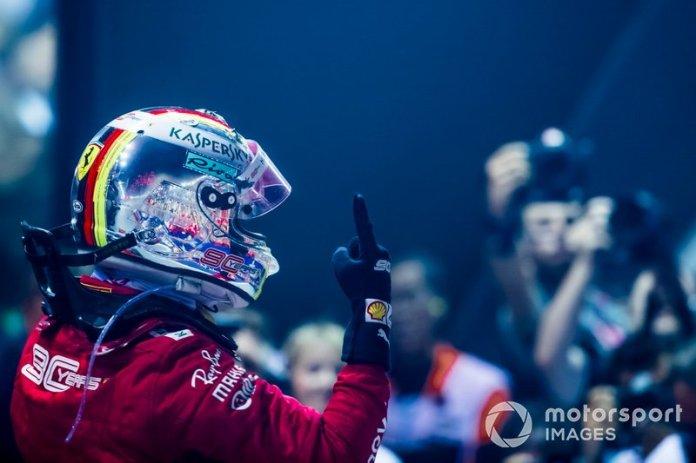 Sebastian Vettel, ganador.