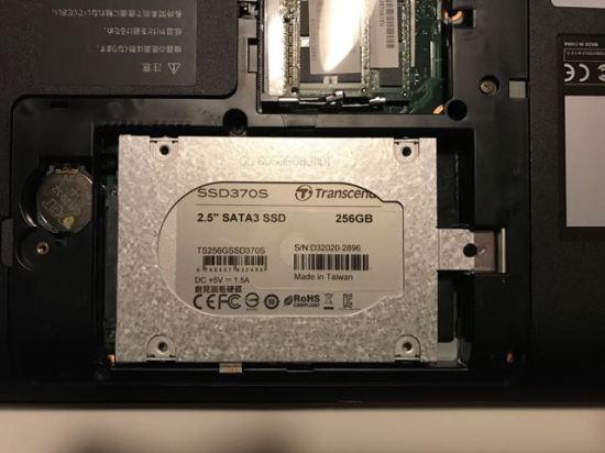SSD設置後