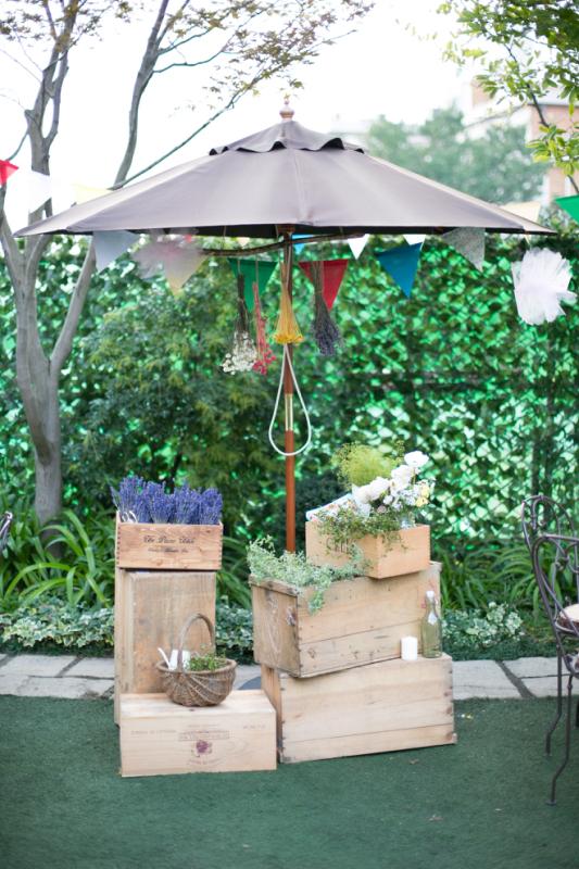 結婚式で使用した装飾用りんご箱