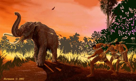 Mammoth & Human