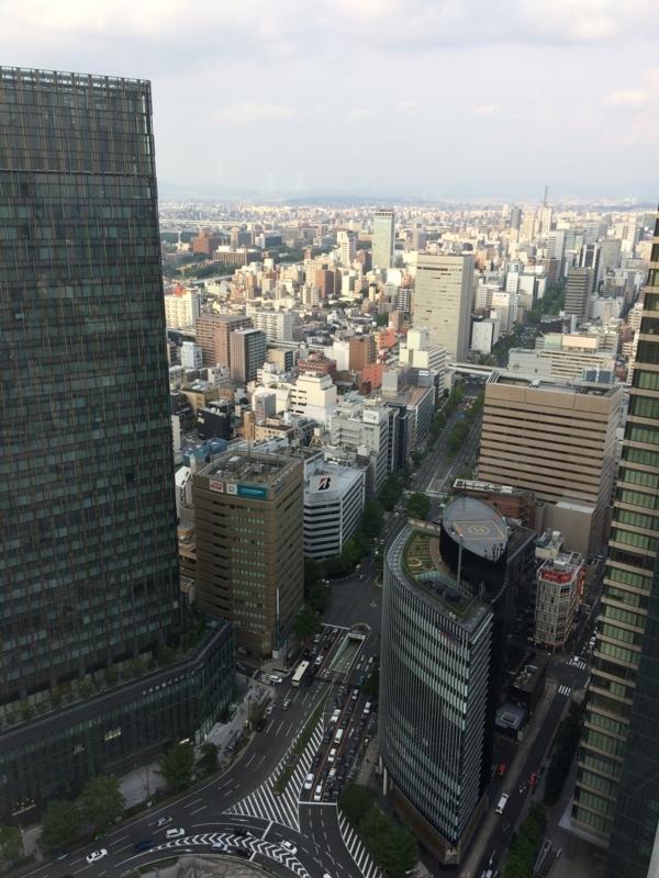 名古屋マリオットホテルのエグゼクティブフロアからの眺望