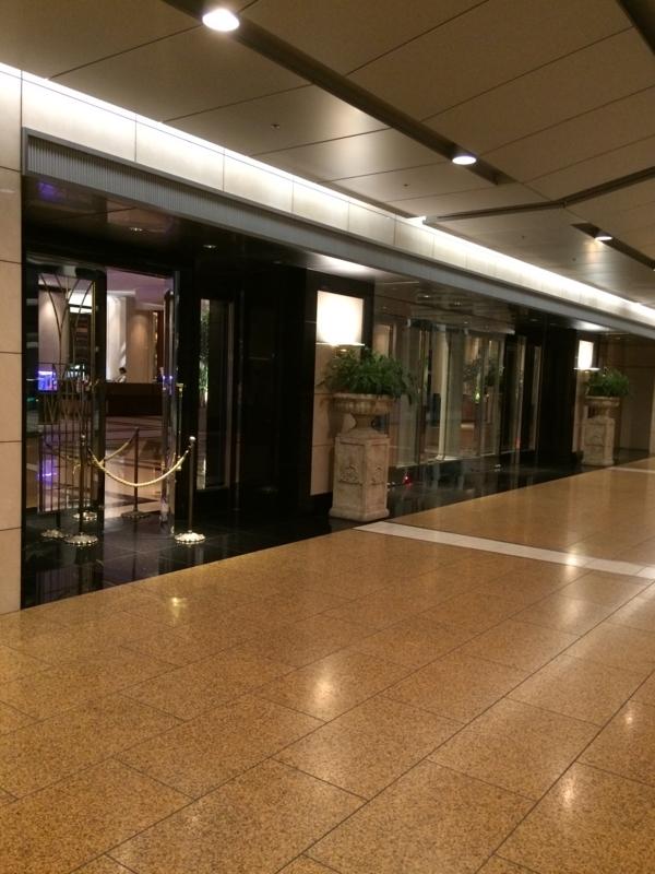 名古屋マリオットホテルの正面玄関