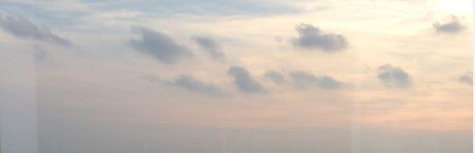 spgアメックスカードで搭乗した飛行機から見える空