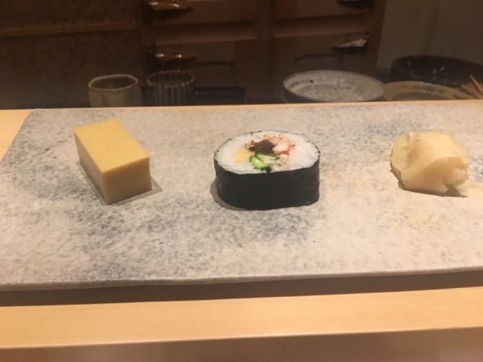 巻き寿司と卵焼き