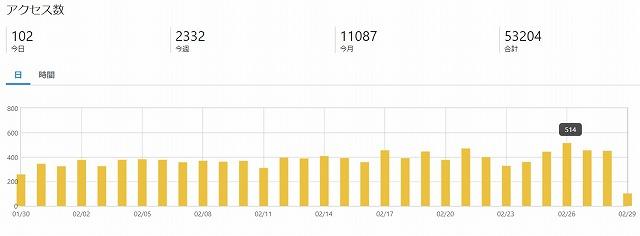 ブログ運営10ヶ月 PV数