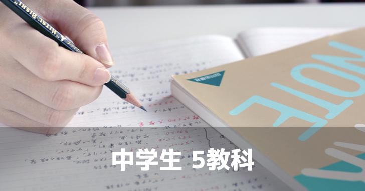 館山市での中学生向けの塾SLLでの5教科パックです。