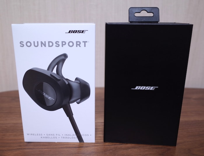 Bose SoundSport wireless headphones開封