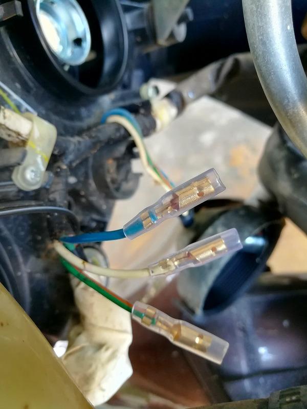 PCXヘッドライト配線加工