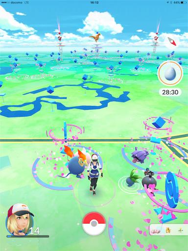 舞浜駅、イクスピアリでポケモンGOです。たくさん出現。