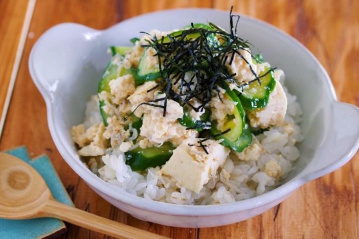 豆腐のっけ丼 糖質オフ ヘルシー 簡単 美味しく ダイエット