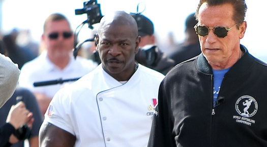 Chef-Andre-Rush-With-Arnold-Schwarzenegger