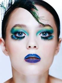 Kalamakeup creative Peacock blue & green makeup