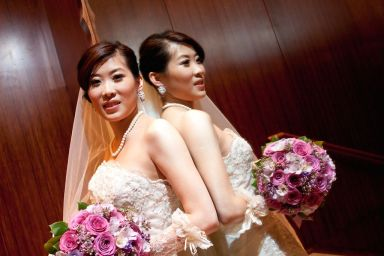 Kalamakeup for bride Angela's wedding at Repulse Bay, H.K.