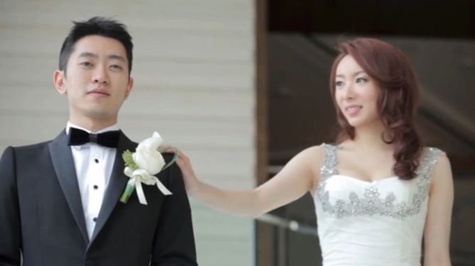 Kalamakeup for bride Bomin's wedding at Four Season hotel, H.K.