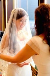 Kalamakeup for bride Evelyn's wedding at Repulse Bay, H.K.