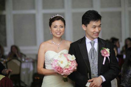 Kalamakeup for bride Queenie's wedding at Shatin Hyatt Hotel, H.K.