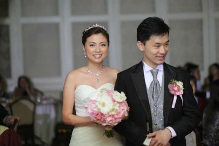 Kalamakeup for bride Queenie's wedding at Shatin Hyatt Hotel, H.K.