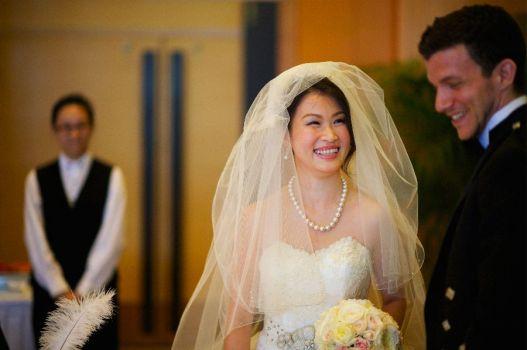 Kalamakeup for bride Vera's wedding at American Clubl, H.K.