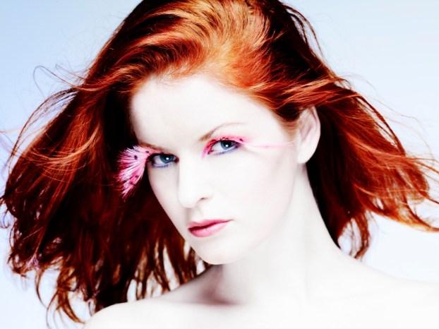 Kalamakeup creative pink leopard feathers fake lashes makeup