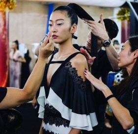 Kalamakeup for La Perla Fashion Week