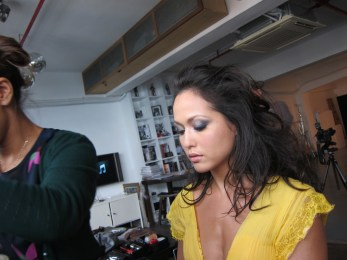 Kalamakeup makeup and hair styling for fashion shoots for model Ankie Black