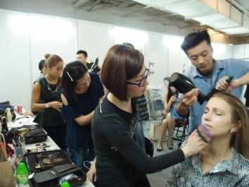 Kalamakeup makeup & hair styling for fashion shows for La Perla at Pacific Place, Hong Kong