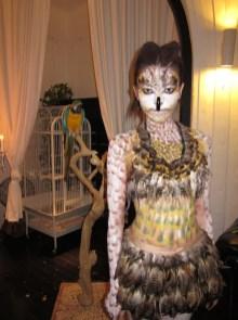 Kalamakeup body painting as an owl for Initial