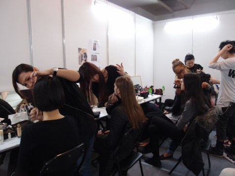 Kalamakeup makeup & hair styling for fashion shows for Paule Ka