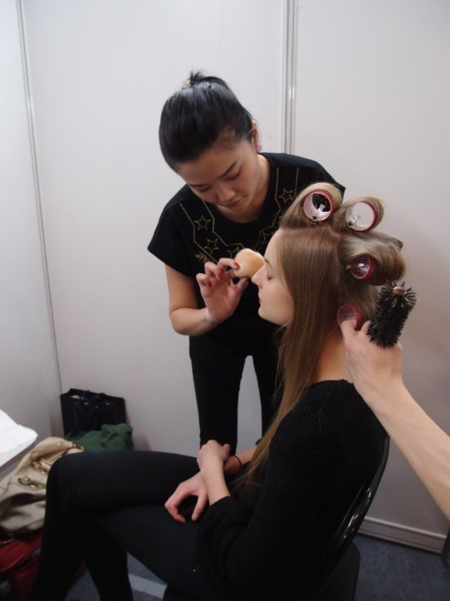 Kalamakeup makeup & hair styling for fashion shows for Paule Ka