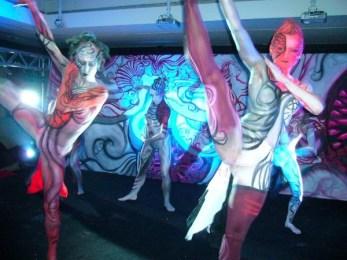 Kalamakeup body painting for Armani Bar Hong Kong