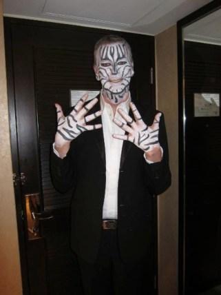 Kalamakeup body painting as a zebra